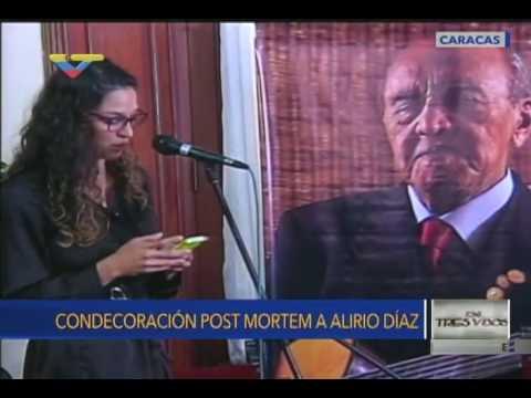 Condecoracion Post Mortem a Alirio Díaz y discursos de su hija y su nieta