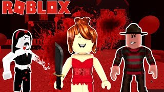 😱🗡BLOODY MARY & FREDDY KRUEGER MUST SURVIVE THE RED DRESS GIRL IN ROBLOX!!!!