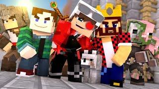 ОСАДА ЗАМКА В МАЙНКРАФТЕ АИД ХЭЛД И ДЕМАСТЕР ПРОТИВ 60 ЧЕЛОВЕК Minecraft Castel Siege