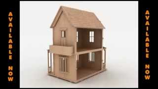 Wood toy Doll House pattern for laser cutting CNC Router or scroll saw