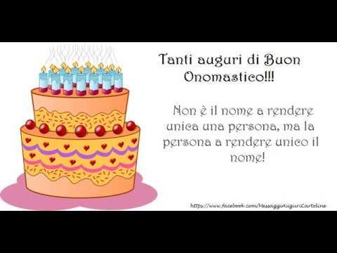 Eccezionale Tanti auguri di Buon Onomastico! - YouTube AV68