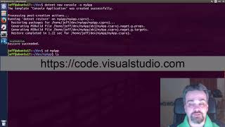 How to create a simple .NET Application on Linux
