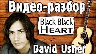 David Usher - Black Black Heart разбор, как играть на гитаре, урок для начинающих, песни под гитару