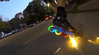 Skater Sparks It Up & Gets His Glow On