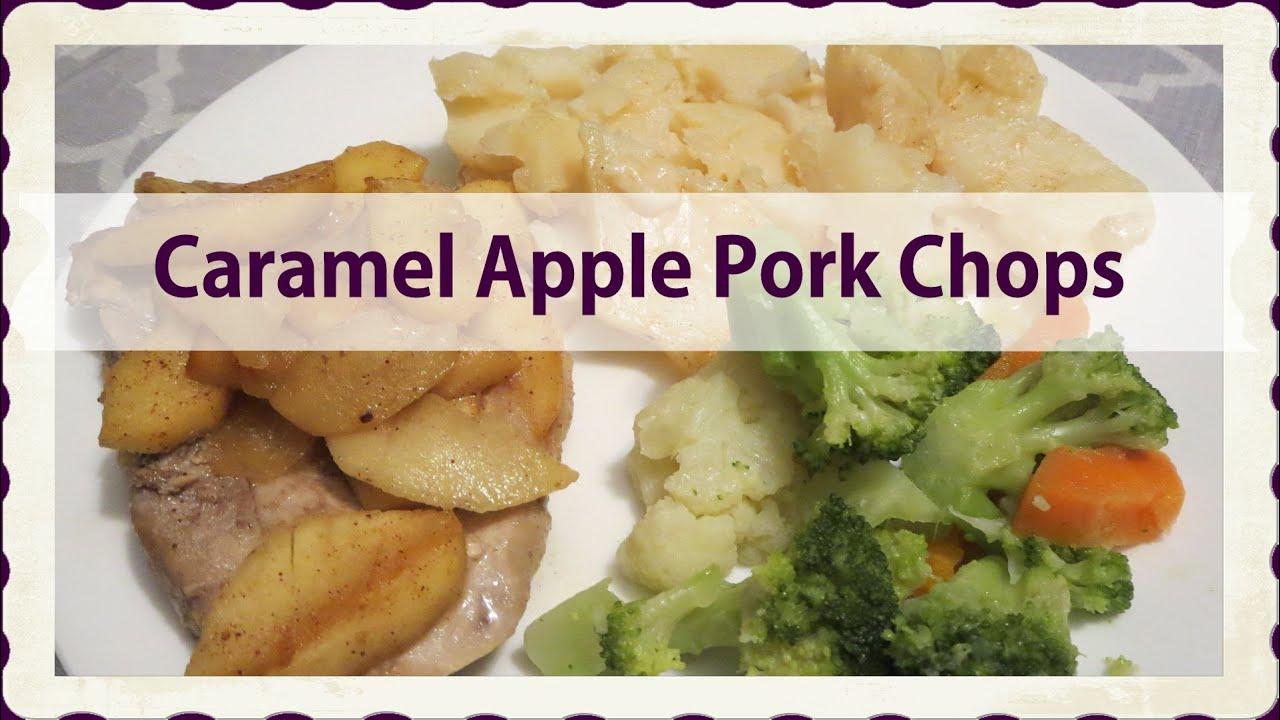 Caramel Apple Pork Chops Recipe — Dishmaps