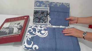Постельное белье  Viluta  8630 синее - обзор