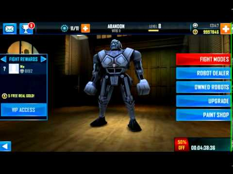 Real steel. World robot boxing pour android à télécharger.