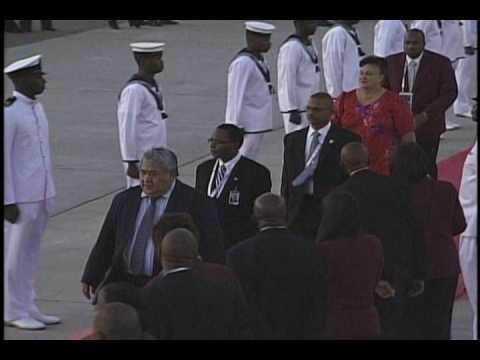 Arrival of The Prime Minister of Samoa.wmv