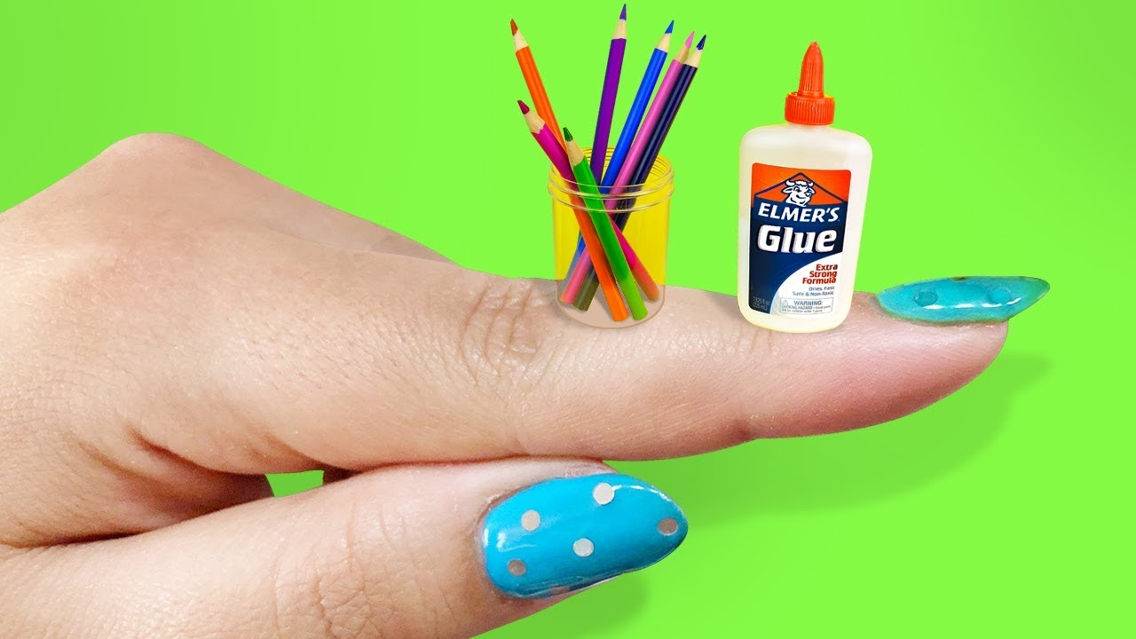 10 DIY Miniature School Supplies THAT WORK! - EASY