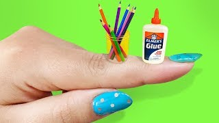 10 DIY Miniature School Supplies THAT WORK! - EASY