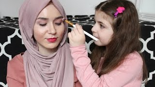 Sister Does my Makeup Challenge