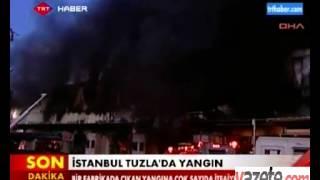 İstanbul Tuzla'da yangın   Haberler, Güncel Haberler, Son Dakika Haberler