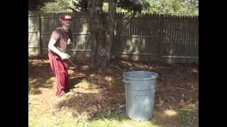 Billy, My Son With Multiple Disabilities, Helps Pick Up Pine Cones 9-22-2012