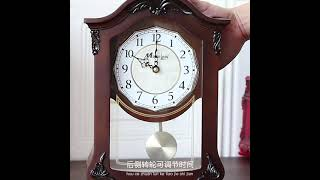 거실 가정용 나무 프레임 테이블 시계 장식품