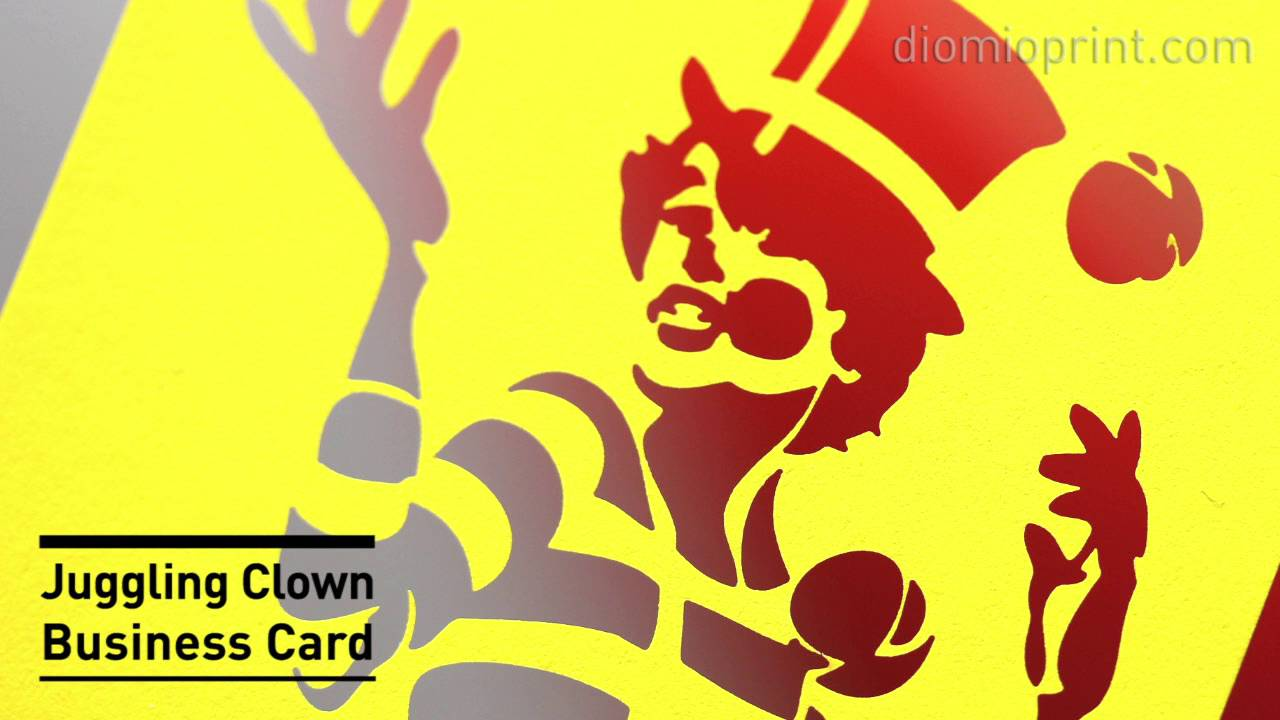 Juggling clown business card youtube colourmoves