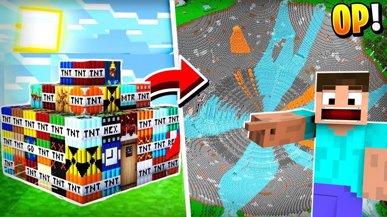 Minecraft, But There are 50 New TNT's...