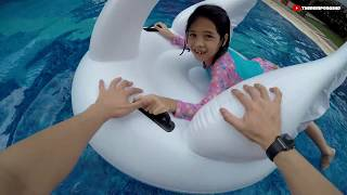 Baixar Unboxing Kolam Renang & Magma Challenge Kids Playing | TheRempongsHD
