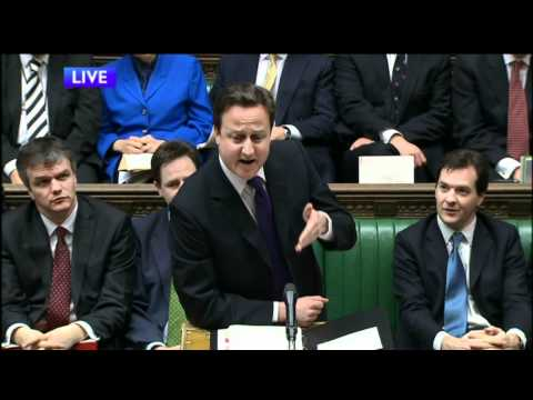 "Cameron vs Miliband - ""You knifed your brother in the back!"" - PMQ"