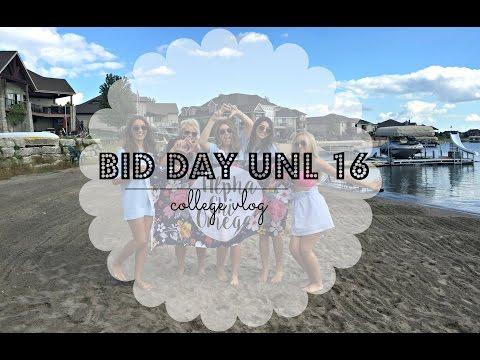 bid day unl 2016 // college vlog