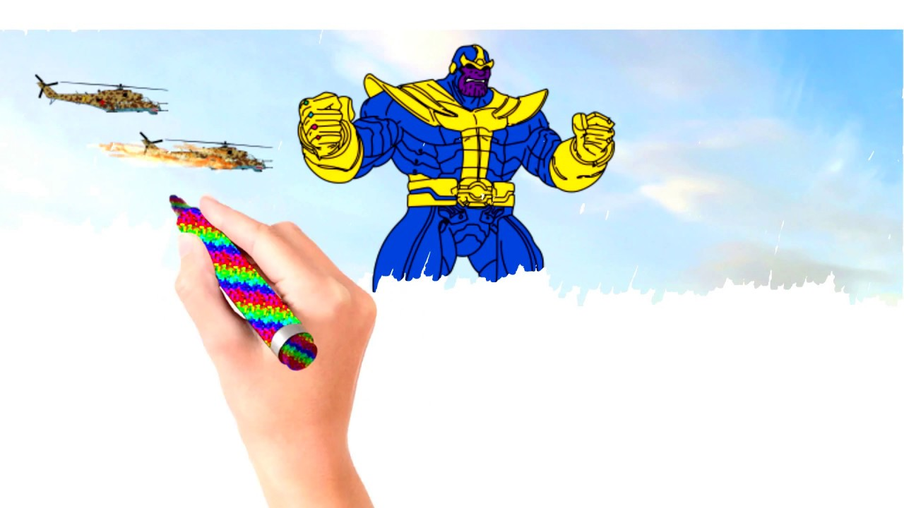How to draw Thanos Chibi | Avengers Infinity War 2018 ...