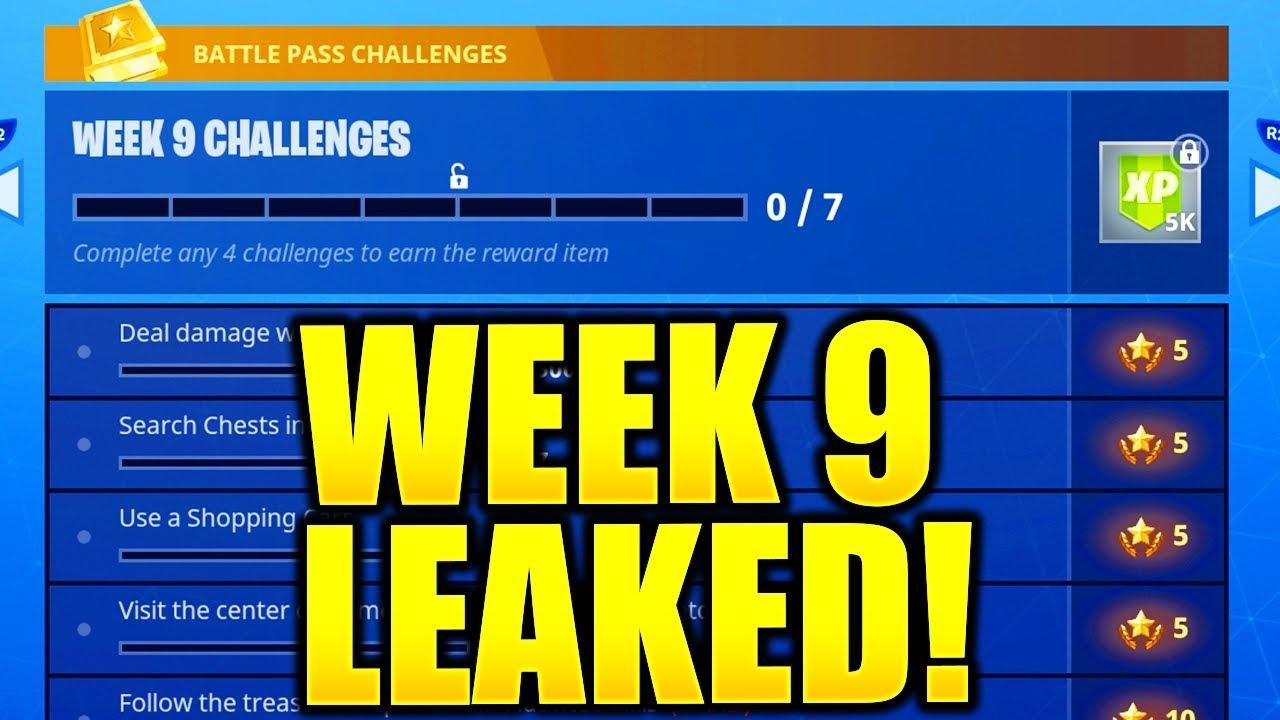Week 9 Fortnite Challenges Season 8 Fortnite Season 5 Week 9 Challenges Leaked Week 9 All Challenges Easy Guide Week 9 Challenges Youtube