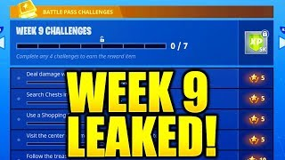 FORTNITE SEASON 5 WEEK 9 CHALLENGES LEAKED! WEEK 9 ALL CHALLENGES EASY GUIDE WEEK 9 CHALLENGES!
