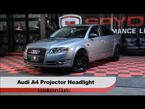 Spyder Auto Installation Audi A LED DRL Projector - 2006 audi a4 headlights
