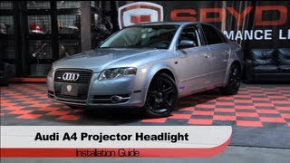 Spyder Auto Installation: 2006-08 Audi A4 LED DRL Projector Headlights