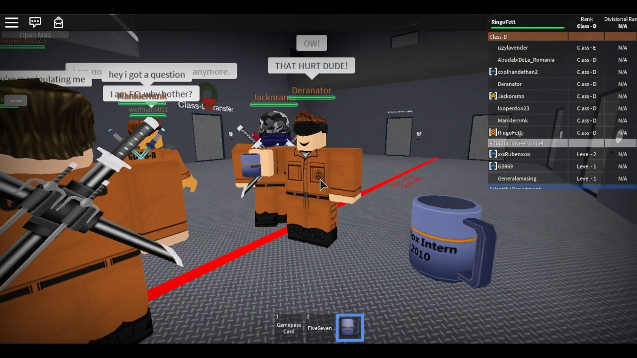 Roblox [SCPF] Armed Containment Area-108 found the hacker