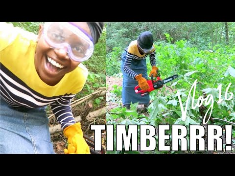 VLOG16 HOW TO NOT CUT DOWN A TREE, TIMBERRR! | FIRST TIME USING CHAINSAW | FOUNDATION POSTS | LAND
