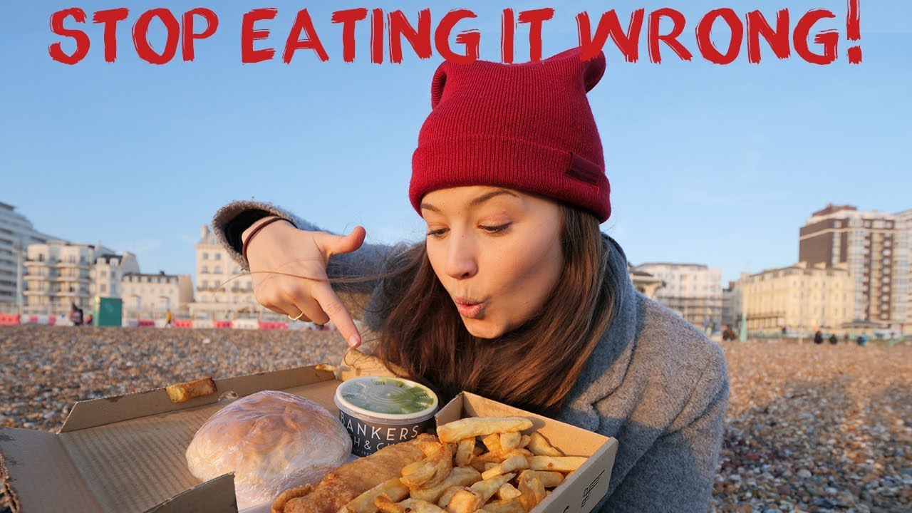 How To Really Eat Fish And Chips! Brighton | England Road Trip Travel Vlog 6