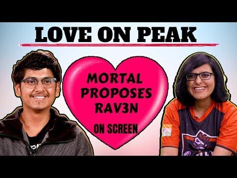 MORTAL Says I LOVE YOU RAVEN   MORTAL GIRLFRIEND  RAVEN And MORTAL LOVE  Mortal Propose Girl In Pubg