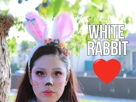 White Rabbit Makeup and Costume - YouTube