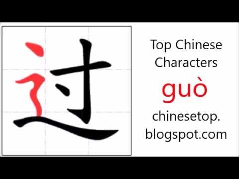 Chinese Character Gu Pass With Stroke Order And Pronunciation