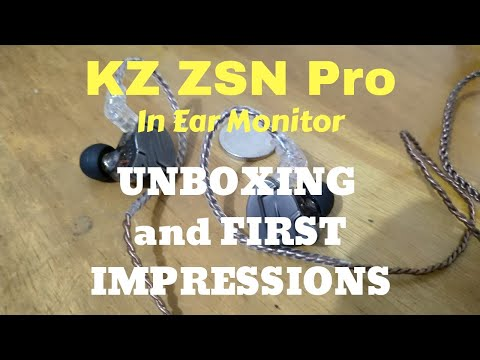 KZ ZSN Pro In Ear Monitor Unboxing and First Impressions (Tagalog)