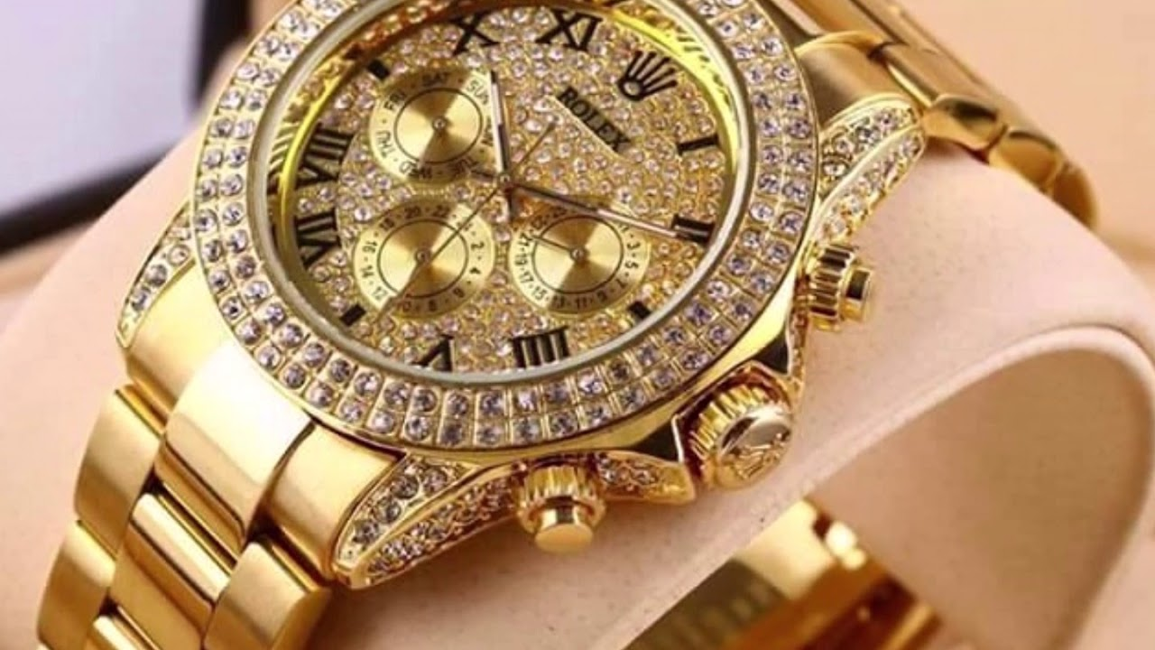 24k gold watch rolex