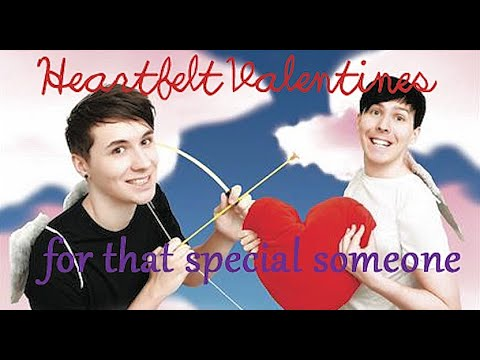 ♡ Dan And Phil Themed Valentines ♡ (not Crappy At All I Worked Very Hard On These) (REUPLOAD)