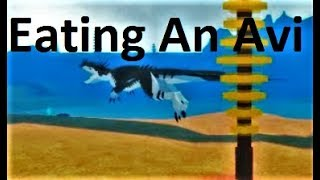EATING an AVI- DESTROYING PACK!-Avinychus Roar!-Dinosaur Simulator, Roblox