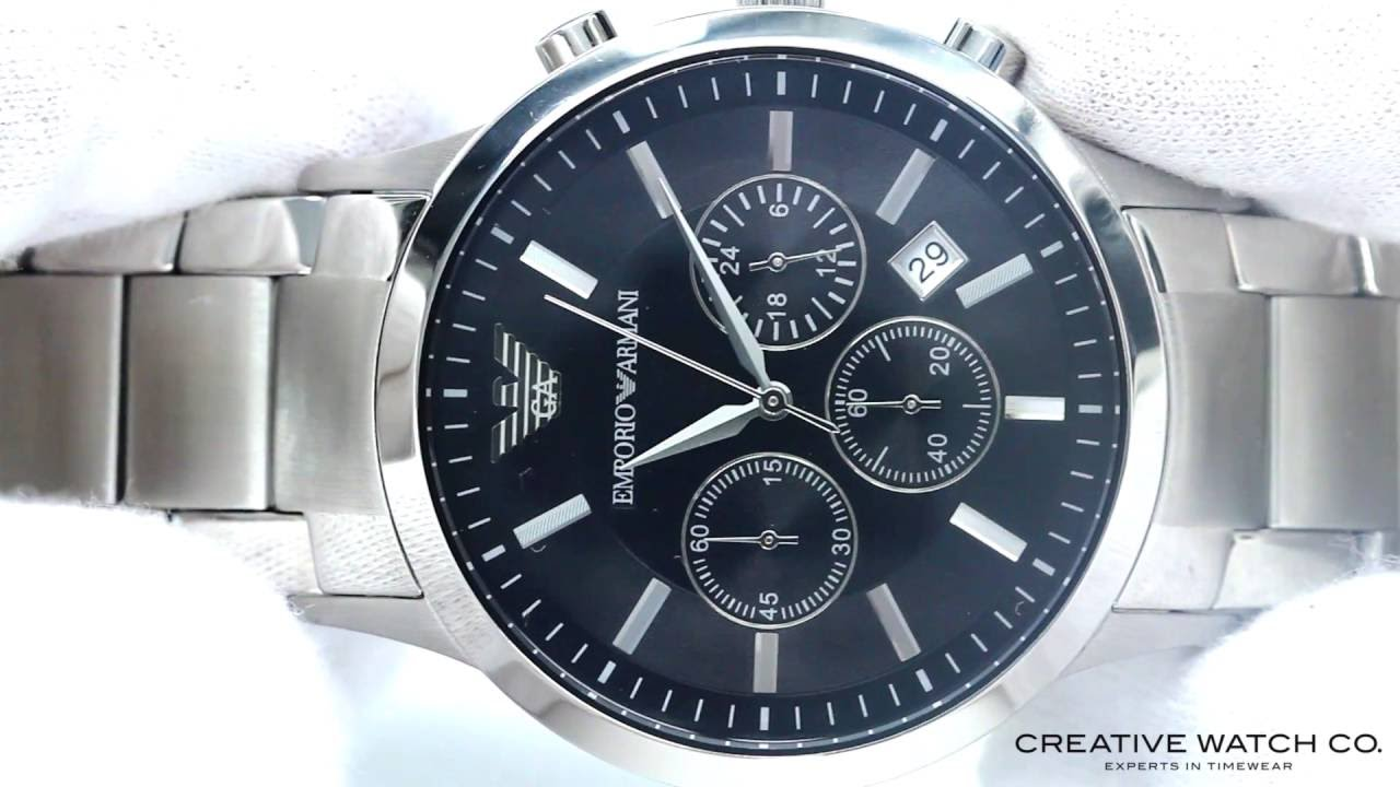e964a1d24ba Hands On With The Men s Emporio Armani Watch AR2434 - YouTube