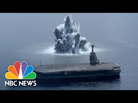 Must See: Massive Underwater Explosions From Navy Aircraft Carrier Test