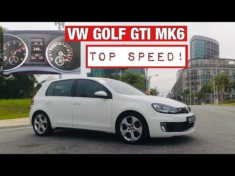 VW Golf GTI MK6 Top Speed Run 244km/h - YouTube