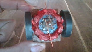How to make 1500 RPM DC motor , new idea to create DC motor 2017
