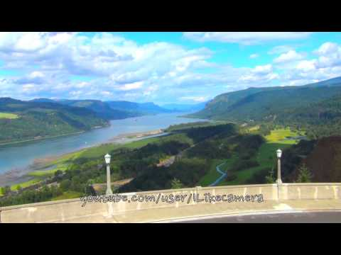 View from Vista House, Crown Point, Multnomah County, Oregon, USA