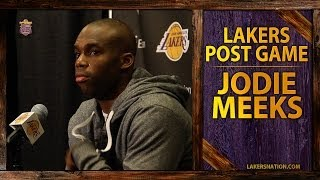 Lakers vs. Thunder: Jodie Meeks After His Career-High 42 Point Game, Kobe