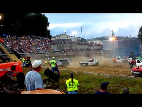 Demo Derby Little Cars Compact at Washington PA Fair Ground 2010 Real Cash For Clunkers