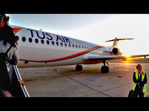 TUS Airways Fokker 100 | Flight CYF100 LCA-TLV Trip Report | Boarding, Cockpit & Takeoff to Landing!