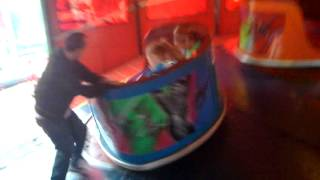 Waltzer - Spinning waltzer. Dangerous. Andrew is spinning waltzer. Very dangerous thing to do.