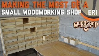 Screw And Parts Organizer And Storage DIY - Making The Most Of A Small Woodworking Shop Ep.1