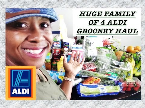 HUDGE FAMILY OF 4 ALDI SUMMER GROCERY  HAUL! JUNE 2018|| HEALTHY EATING