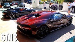 Bugatti Chiron COMBO in Monaco! Start-up, sound, accelerations...